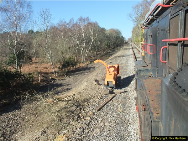 2016-02-15 SR Engineering work on the new section for the Wareham link.  (76)152