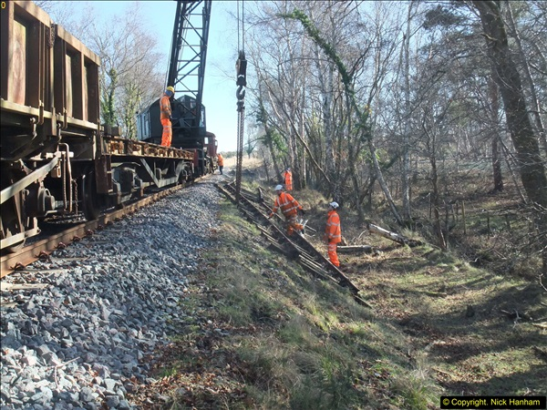 2016-02-15 SR Engineering work on the new section for the Wareham link.  (90)166