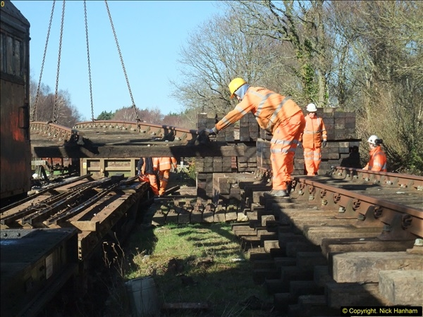 2016-02-15 SR Engineering work on the new section for the Wareham link.  (52)128