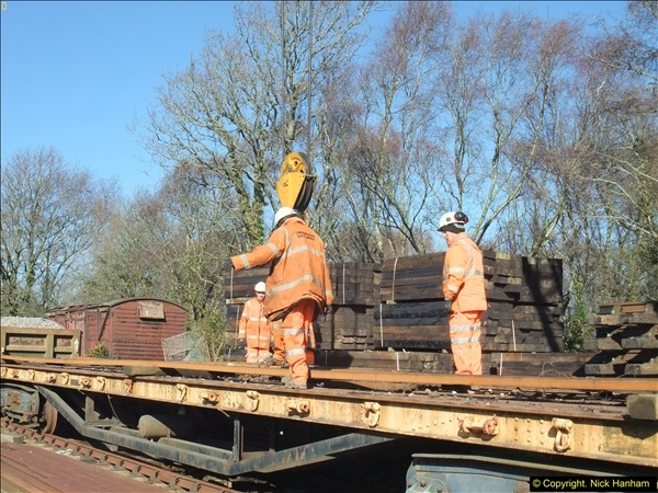 2016-02-15 SR Engineering work on the new section for the Wareham link.  (54)130