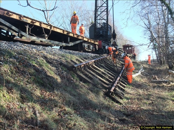 2016-02-15 SR Engineering work on the new section for the Wareham link.  (91)167