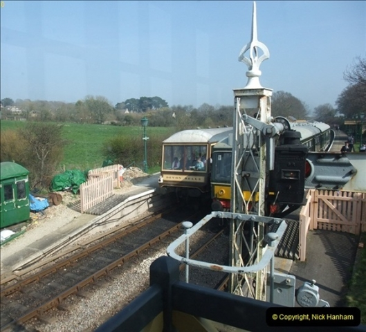 2012-03-24 SR Railway At Work Weekend. Your Host on the DMU.  (32)032