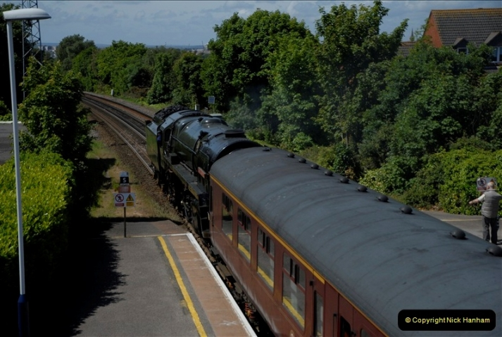 2011-05-13. 70013 passing Parkstone for the SR. (1)429