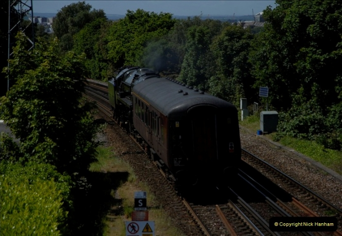 2011-05-13. 70013 passing Parkstone for the SR. (2)430