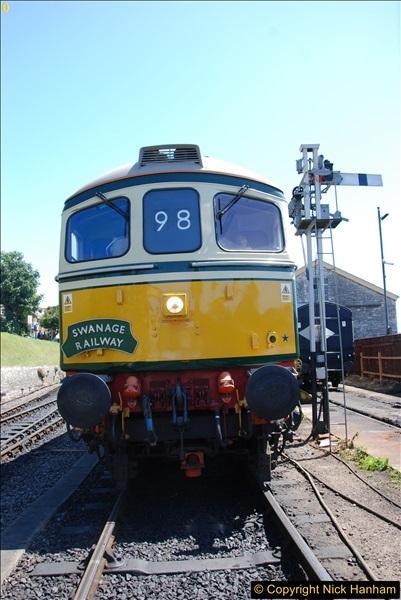 2017-06-13 SR first return service Swanage - Warehan - Swanage.  (227)227