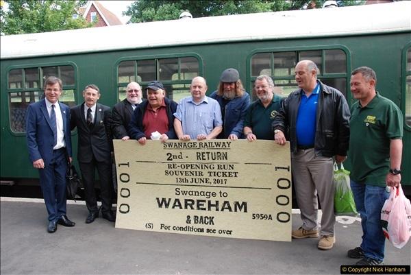 2017-06-13 SR first return service Swanage - Warehan - Swanage.  (85)085