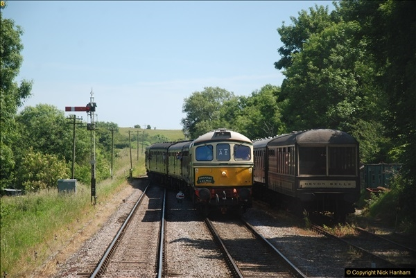 2017-06-13 SR first return service Swanage - Warehan - Swanage.  (301)301