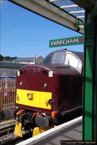 2017-06-13 SR first return service Swanage - Warehan - Swanage.  (67)067