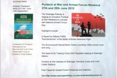 SR Purbeck at War 27 June 2015