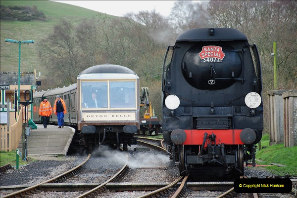 2018-12-08 Santa Specials at Swanage and Norden.  (130)130