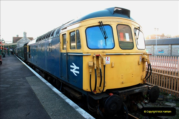 2018-12-08 Santa Specials at Swanage and Norden.  (34)034