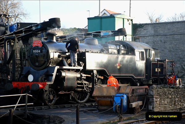 2018-12-08 Santa Specials at Swanage and Norden.  (60)060