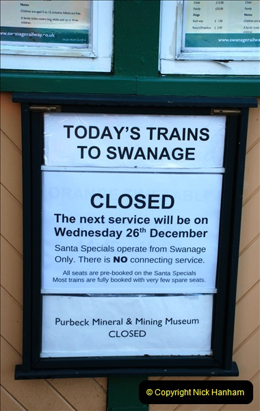 2018-12-08 Santa Specials at Swanage and Norden.  (99)099