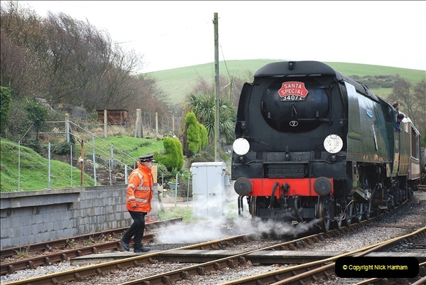 2018-12-08 Santa Specials at Swanage and Norden.  (123)123