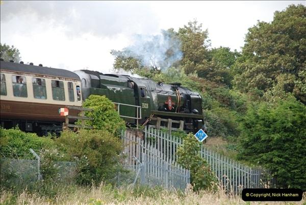 2012-07-09. 35028 Clan Line @ Whitecliffe, Poole, Dorset.  (10)050