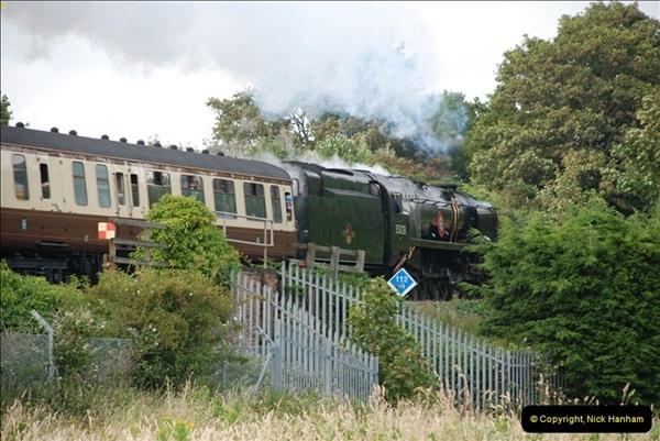2012-07-09. 35028 Clan Line @ Whitecliffe, Poole, Dorset.  (11)051