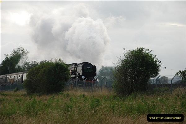 2012-07-09. 35028 Clan Line @ Whitecliffe, Poole, Dorset.  (2)042