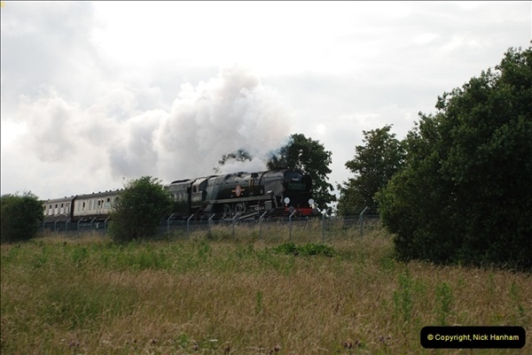 2012-07-09. 35028 Clan Line @ Whitecliffe, Poole, Dorset.  (4)044