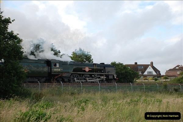 2012-07-09. 35028 Clan Line @ Whitecliffe, Poole, Dorset.  (6)046