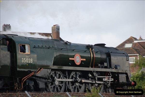2012-07-09. 35028 Clan Line @ Whitecliffe, Poole, Dorset.  (7)047