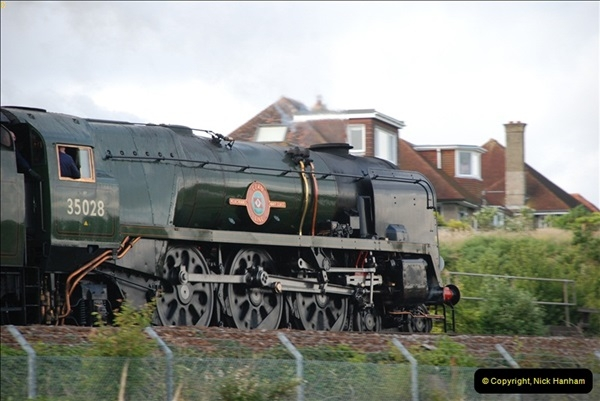 2012-07-09. 35028 Clan Line @ Whitecliffe, Poole, Dorset.  (8)048