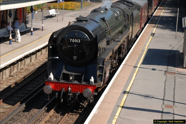 2013-09-04 70013 @ Parkstone, Poole, Dorset.  (4)100