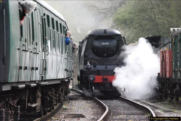 2017-03-31 The Swanage Railway Strictly Bulleid Gala.  (201)201