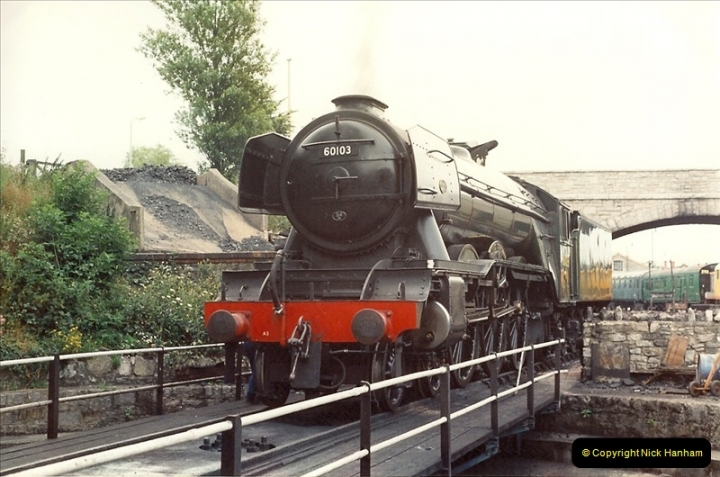 1994-07-16 Flying Scotsman comes to Swanage. (2)0053