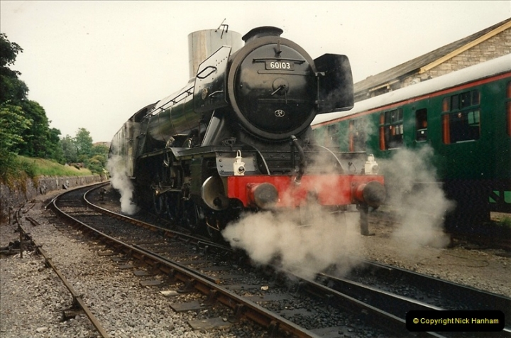1994-07-18 to 22 Your Host spends a week driving Flying Scotsman.  (11)0083