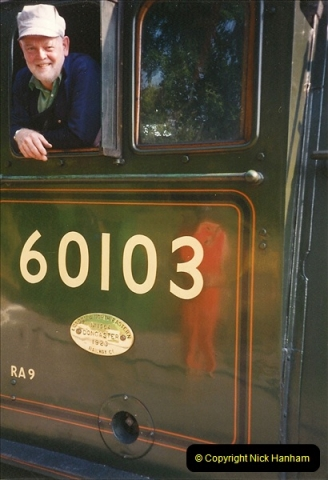 1994-07-18 to 22 Your Host spends a week driving Flying Scotsman.  (13)0085