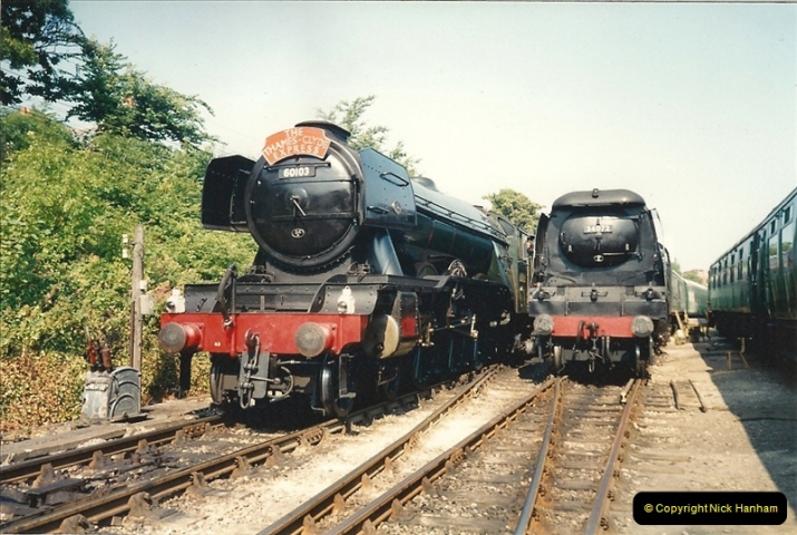 1994-07-18 to 22 Your Host spends a week driving Flying Scotsman.  (3)0075