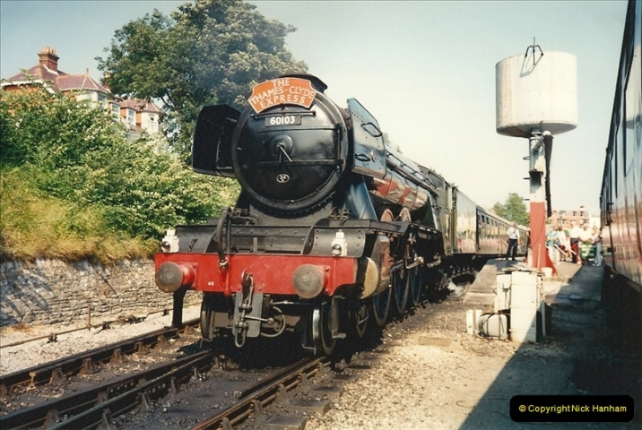 1994-07-18 to 22 Your Host spends a week driving Flying Scotsman.  (4)0076