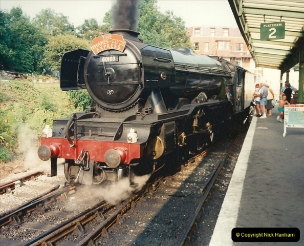 1994-07-18 to 22 Your Host spends a week driving Flying Scotsman.  (6)0078