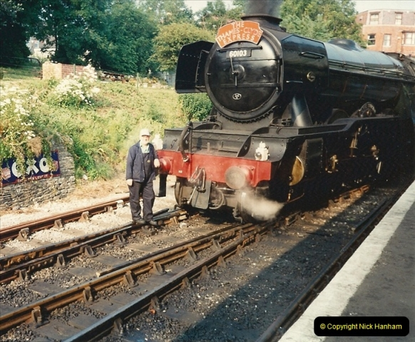 1994-07-18 to 22 Your Host spends a week driving Flying Scotsman.  (7)0079