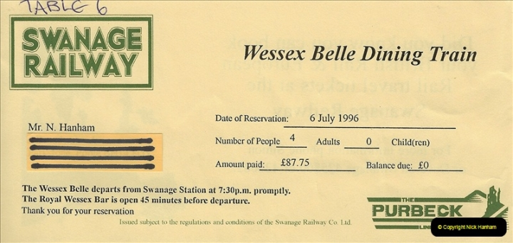 1996-07-06 Your Host and Wife have an evening out on the Wessex Belle @ Swanage. (5)0320