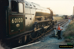 1994-07-16 Your Host drives 60103 on the first day of operation on the evening dining train. (1)0066