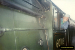1994-07-16 Your Host drives 60103 on the first day of operation on the evening dining train. (4)0069