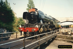 1994-07-18 to 22 Your Host spends a week driving Flying Scotsman.  (1)0073