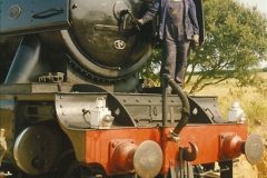 1994-07-18 to 22 Your Host spends a week driving Flying Scotsman.  (14)0086