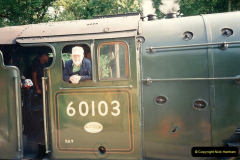 1994-07-18 to 22 Your Host spends a week driving Flying Scotsman.  (5)0077