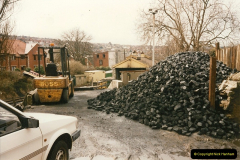 1996-03-22 The Operations Manager moves from the station house to the shed area.  (5)0281