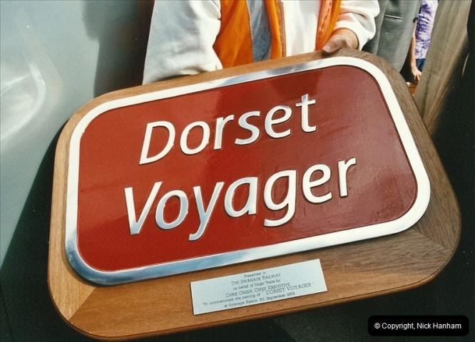 2002-09-08 Virgin Voyager named @ Swanage.  (26)113