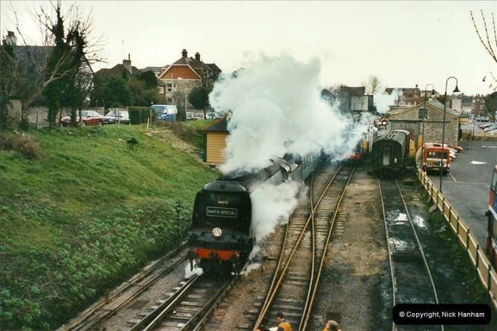 2002-12-01 Driving the DMU on Santa Specials.  (25)219