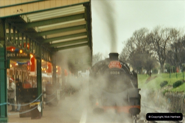 2002-12-07 Driving 80104 on Santa Specials.  (12)236