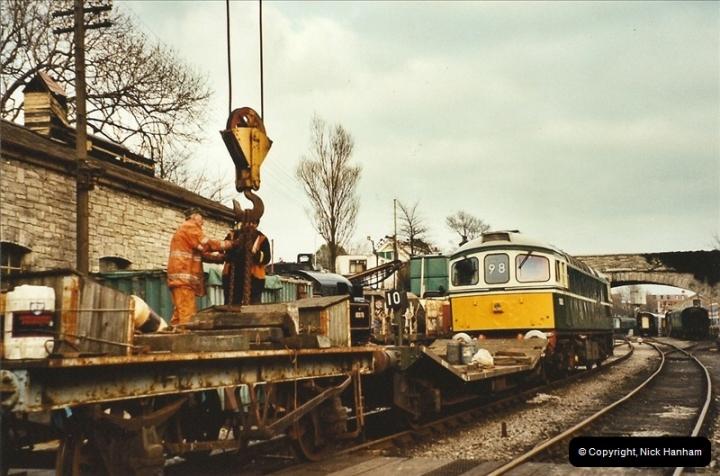 2003-02-22 Driving 33012 on crane work.  (3)282