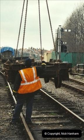 2003-02-22 Driving 33012 on crane work.  (6)285