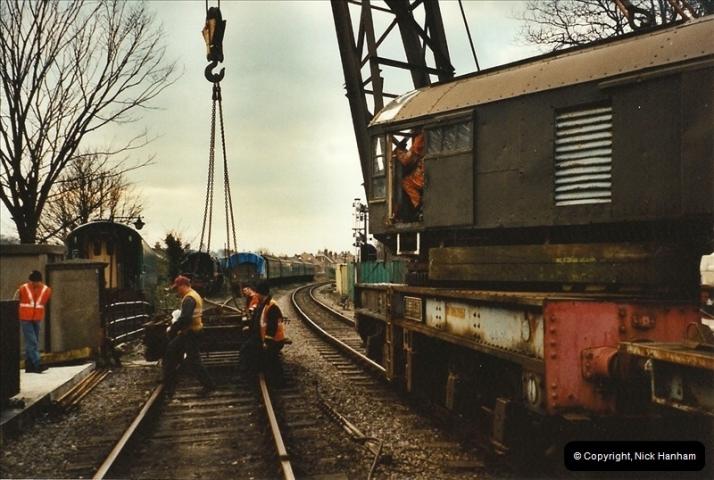 2003-02-22 Driving 33012 on crane work.  (7)286