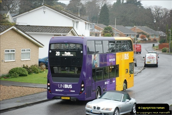 2018-04-09 First day of operation of the Route 20 by Wilts & Dorset.  (11)011