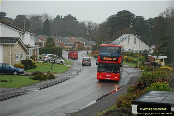 2018-04-09 First day of operation of the Route 20 by Wilts & Dorset.  (20)020