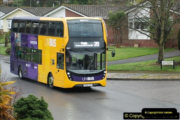 2018-04-09 First day of operation of the Route 20 by Wilts & Dorset.  (22)022